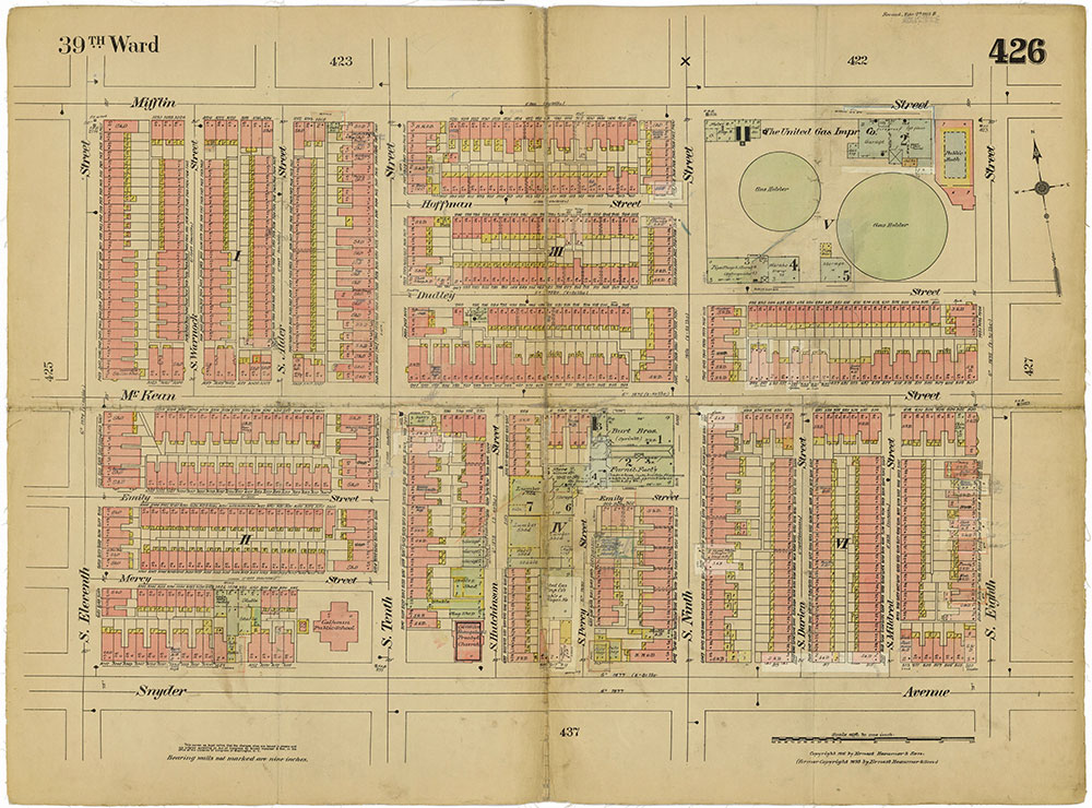 Insurance Maps of the City of Philadelphia, 1915-1919, Plate 426