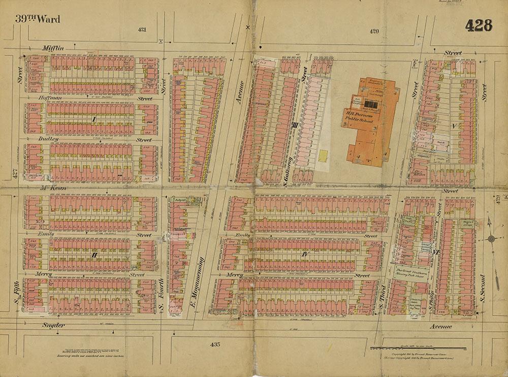 Insurance Maps of the City of Philadelphia, 1915-1919, Plate 428