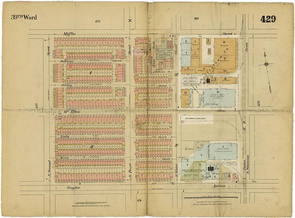Insurance Maps of the City of Philadelphia, 1915-1919, Plate 429