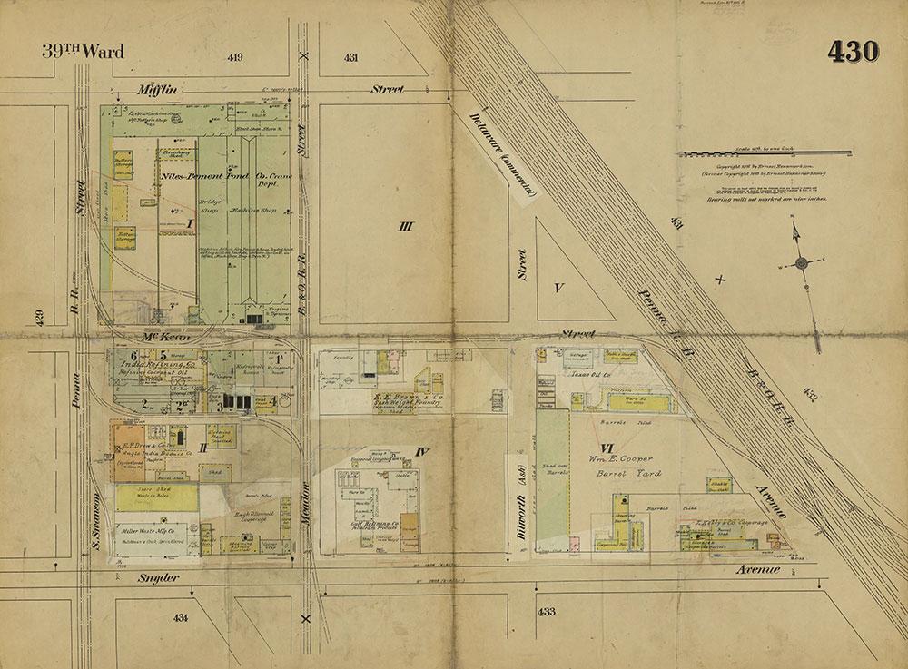 Insurance Maps of the City of Philadelphia, 1915-1919, Plate 430