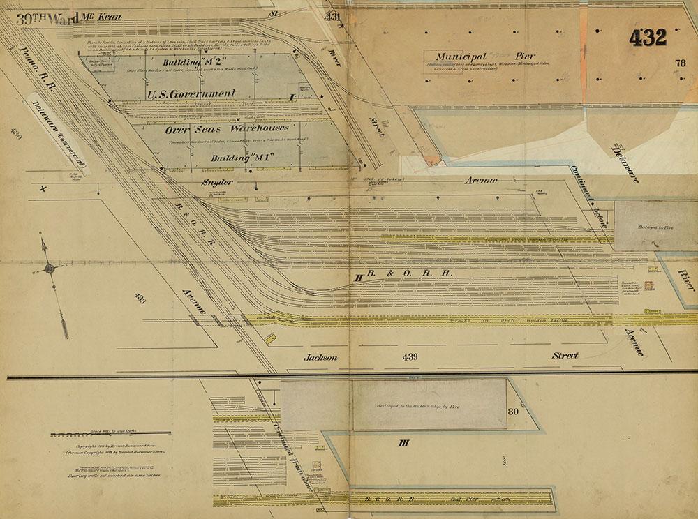 Insurance Maps of the City of Philadelphia, 1915-1919, Plate 432