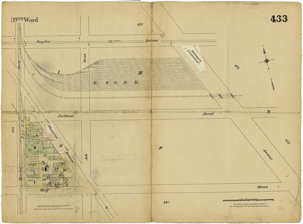 Insurance Maps of the City of Philadelphia, 1915-1919, Plate 433