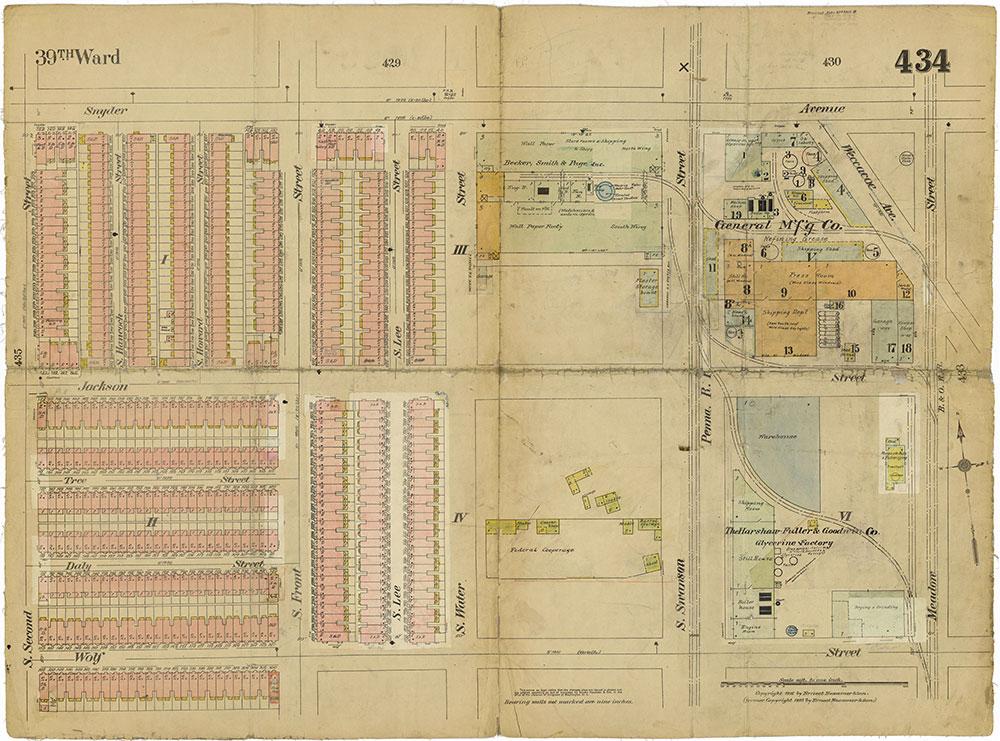 Insurance Maps of the City of Philadelphia, 1915-1919, Plate 434