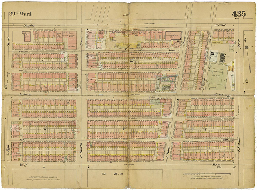 Insurance Maps of the City of Philadelphia, 1915-1919, Plate 435