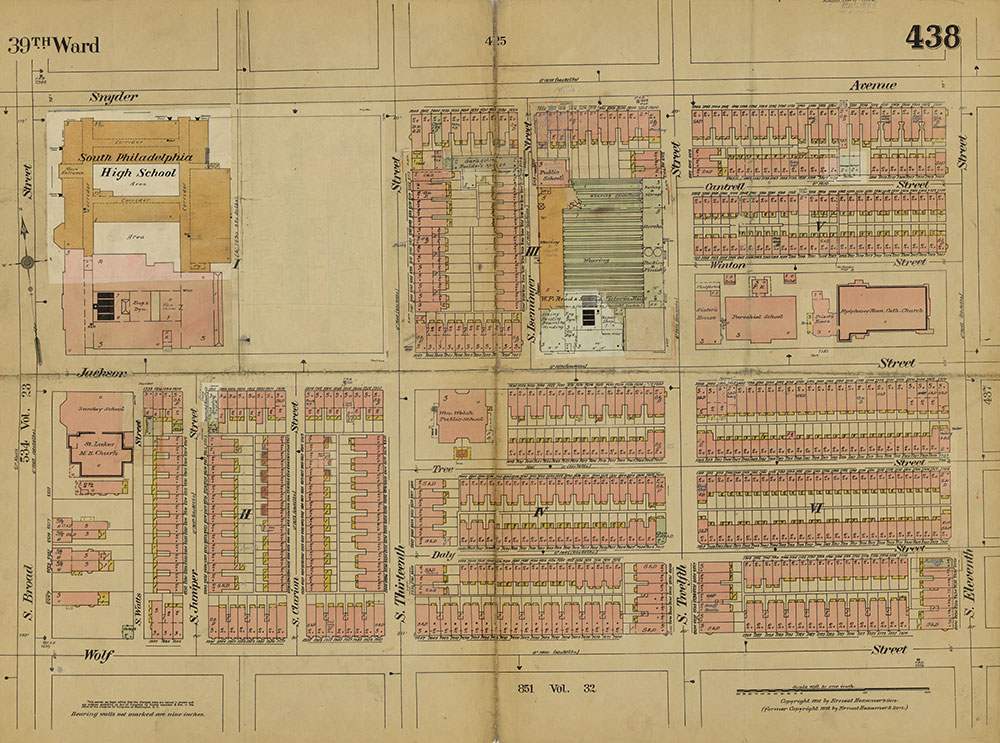Insurance Maps of the City of Philadelphia, 1915-1919, Plate 438