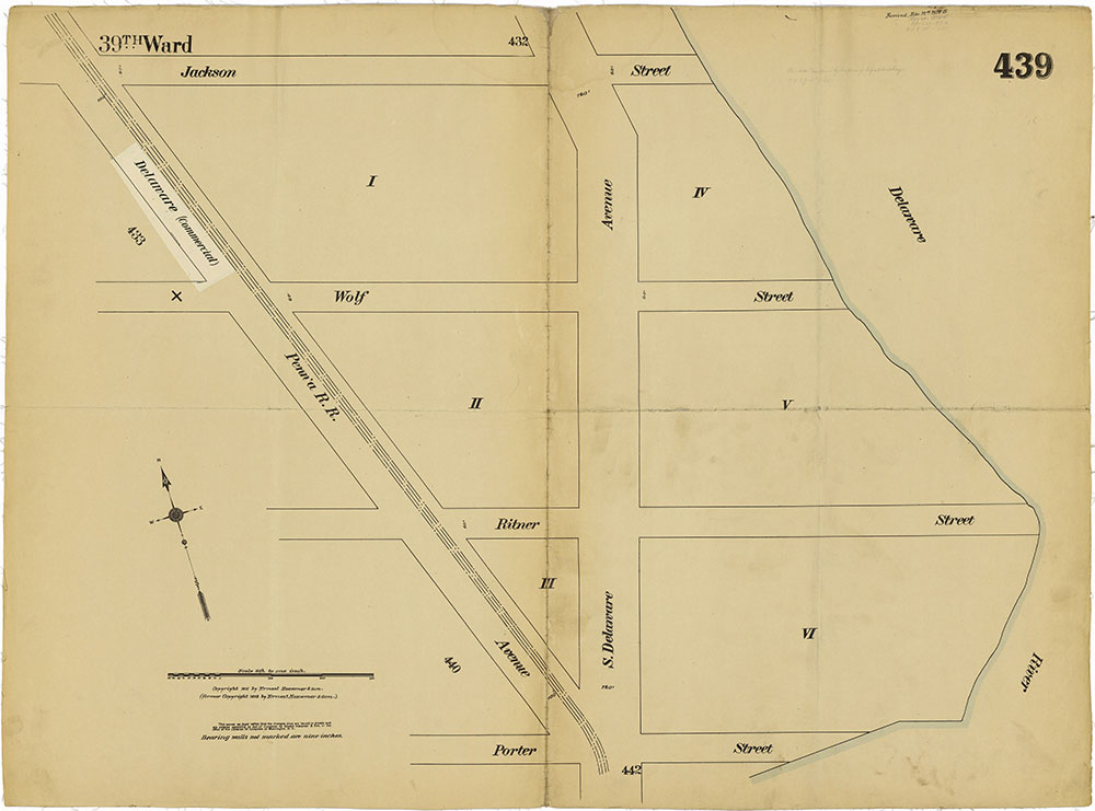 Insurance Maps of the City of Philadelphia, 1915-1919, Plate 439