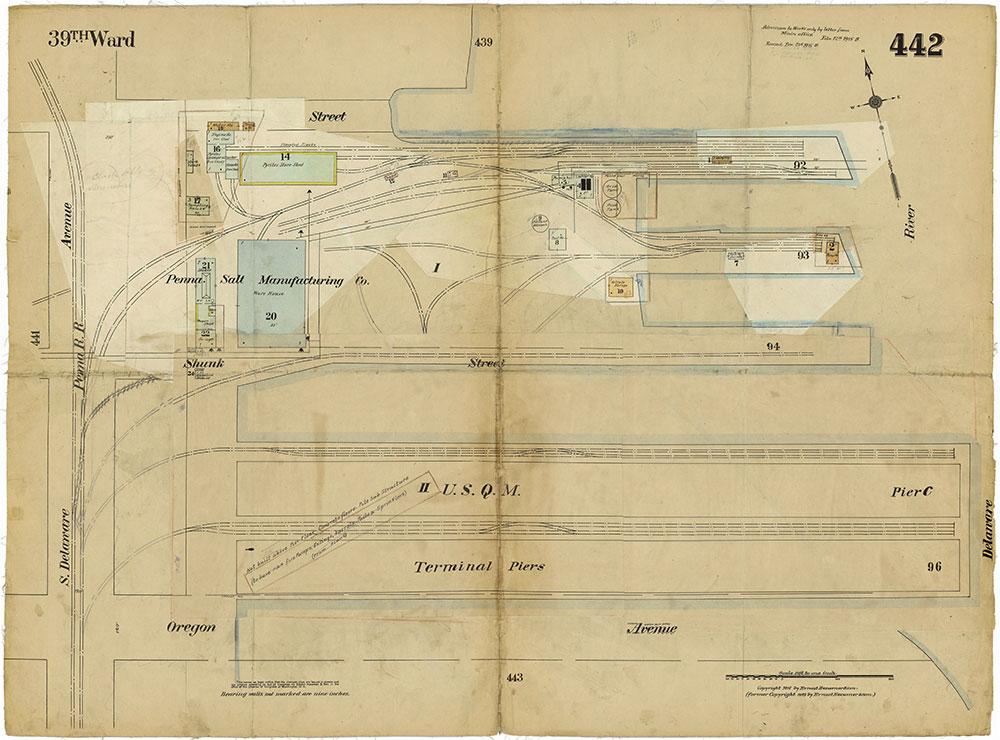 Insurance Maps of the City of Philadelphia, 1915-1919, Plate 442