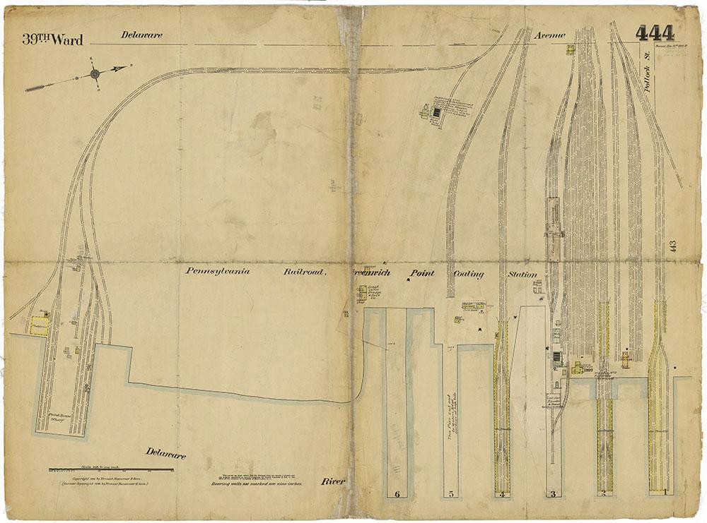 Insurance Maps of the City of Philadelphia, 1915-1919, Plate 444