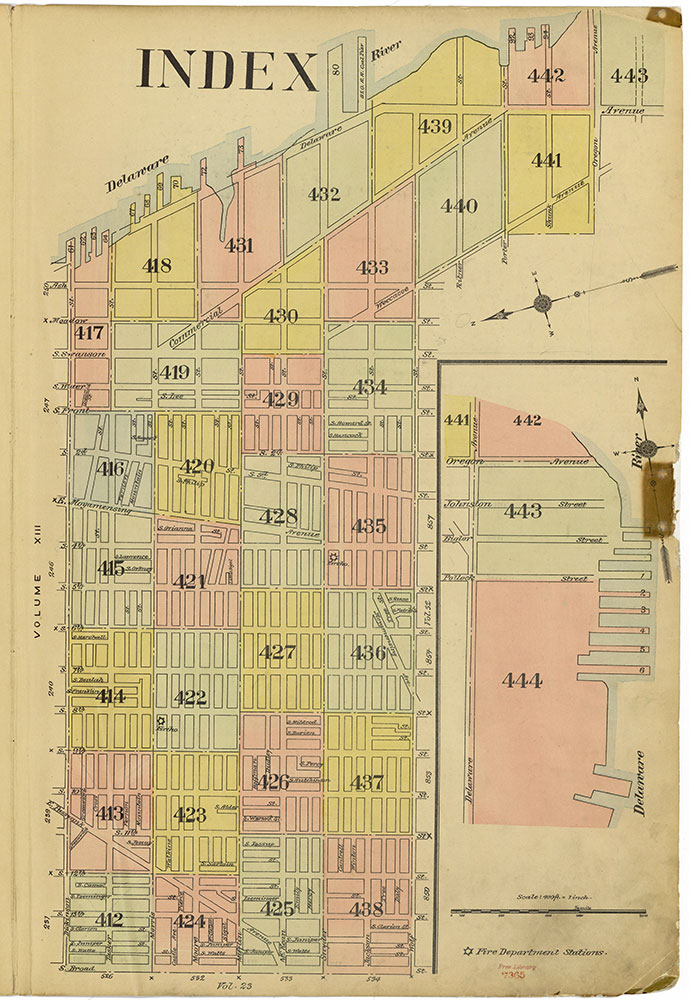 Insurance Maps of the City of Philadelphia, 1915-1920, Map Index