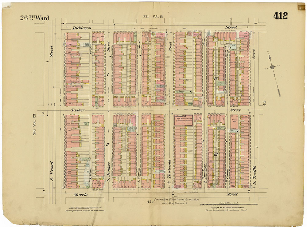 Insurance Maps of the City of Philadelphia, 1915-1920, Plate 412