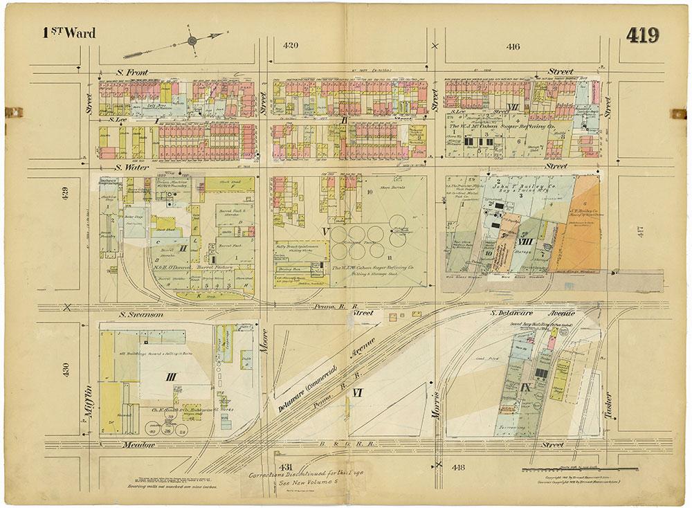 Insurance Maps of the City of Philadelphia, 1915-1920, Plate 419