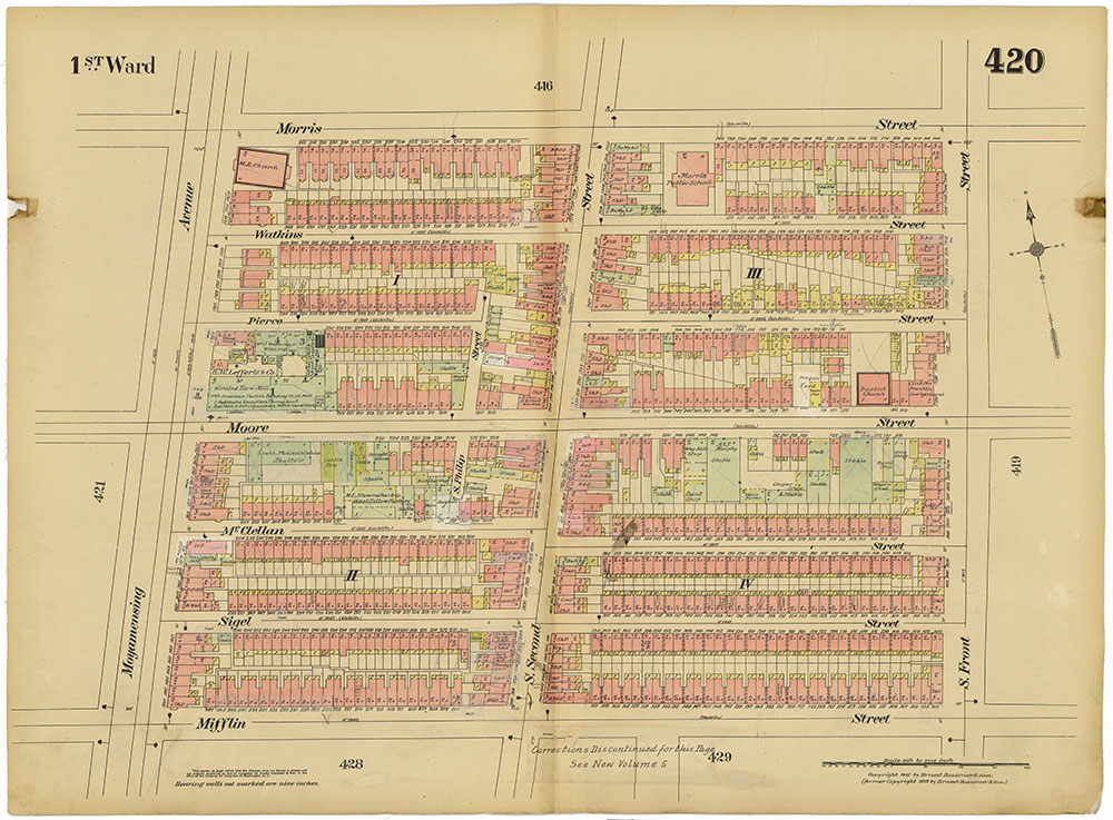 Insurance Maps of the City of Philadelphia, 1915-1920, Plate 420