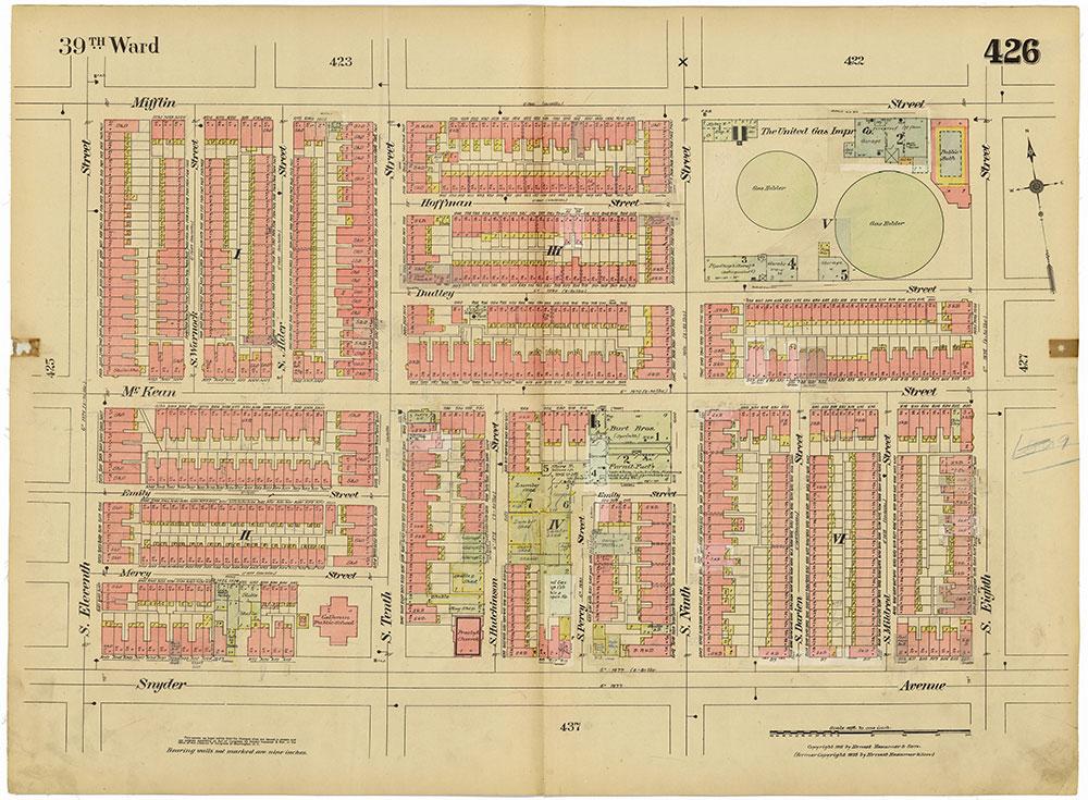 Insurance Maps of the City of Philadelphia, 1915-1920, Plate 426