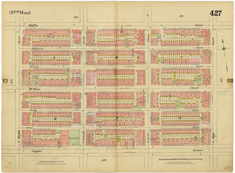 Insurance Maps of the City of Philadelphia, 1915-1920, Plate 427
