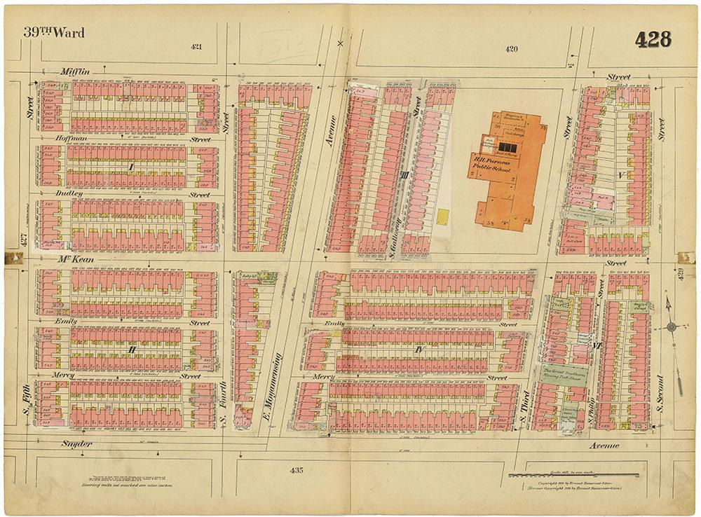 Insurance Maps of the City of Philadelphia, 1915-1920, Plate 428