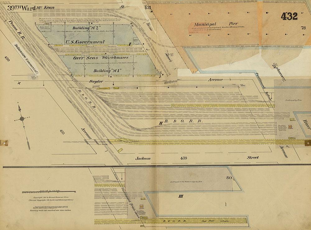 Insurance Maps of the City of Philadelphia, 1915-1920, Plate 432