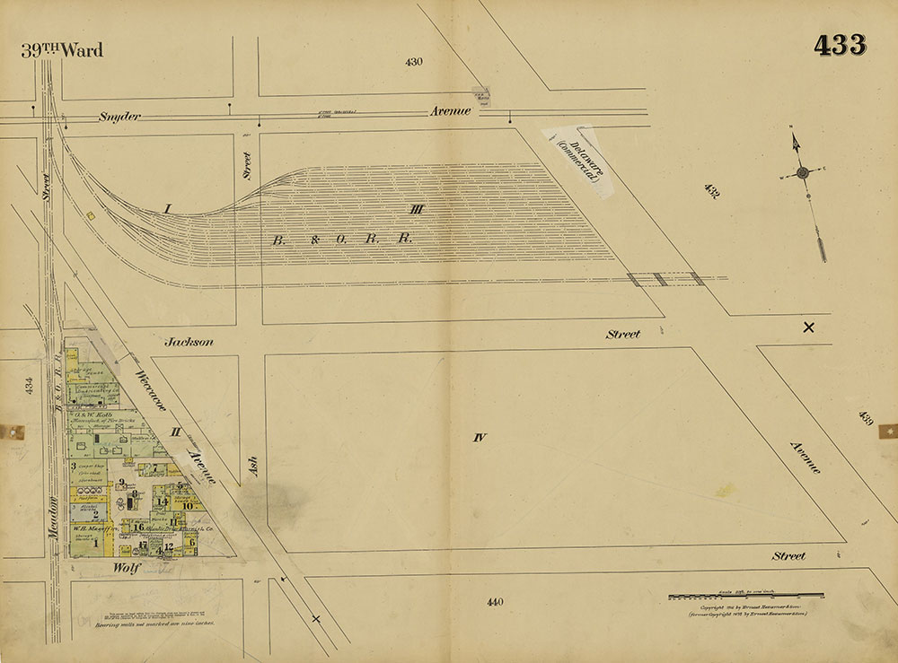 Insurance Maps of the City of Philadelphia, 1915-1920, Plate 433