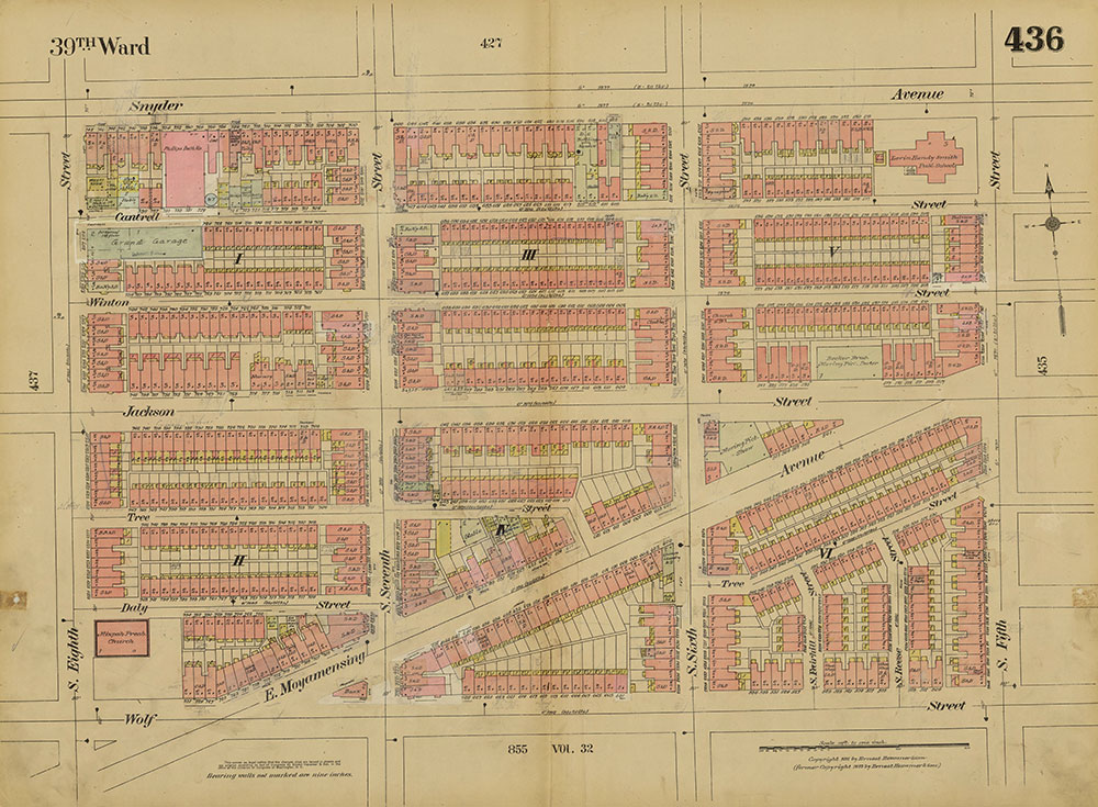 Insurance Maps of the City of Philadelphia, 1915-1920, Plate 436
