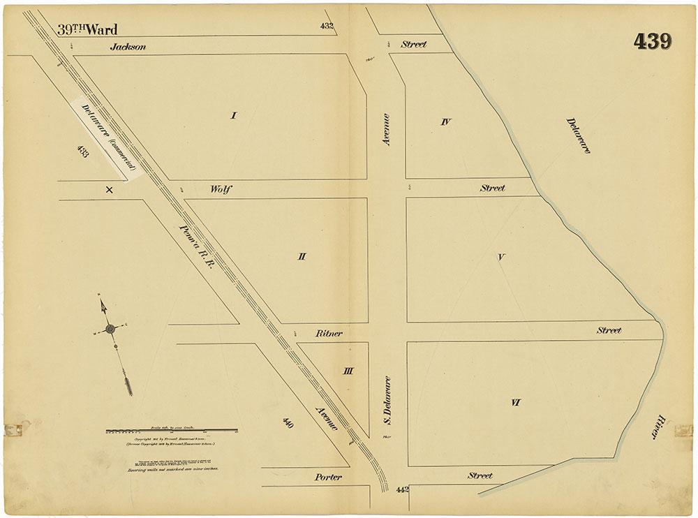 Insurance Maps of the City of Philadelphia, 1915-1920, Plate 439