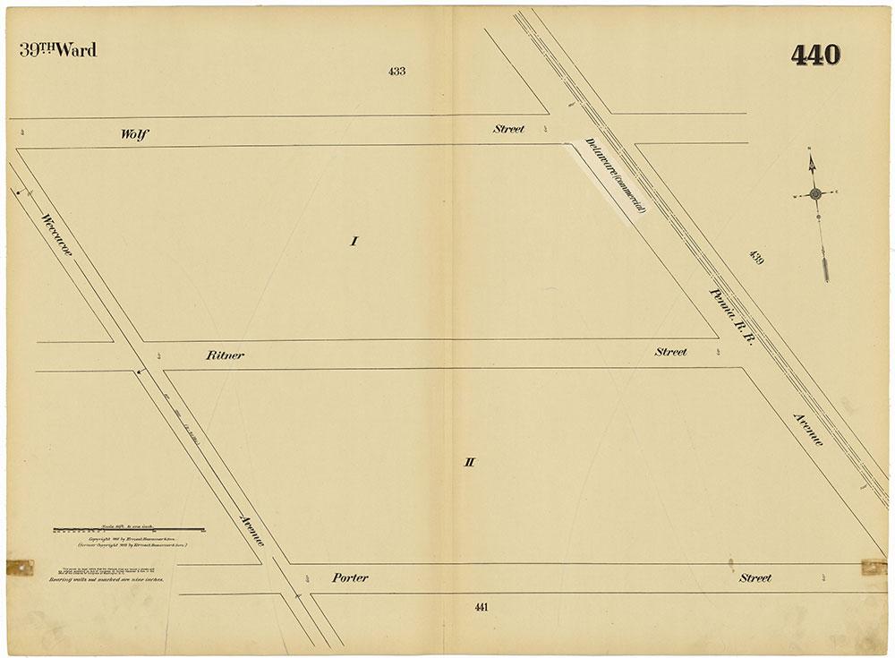 Insurance Maps of the City of Philadelphia, 1915-1920, Plate 440