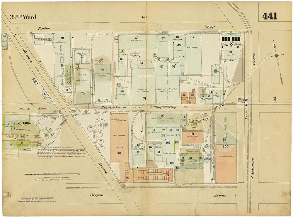 Insurance Maps of the City of Philadelphia, 1915-1920, Plate 441