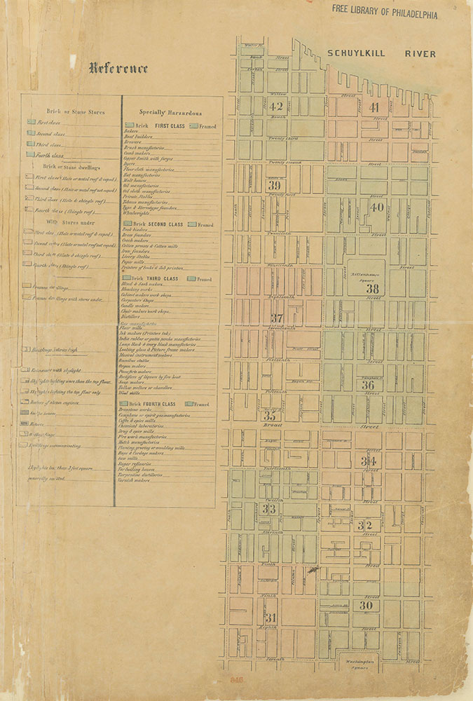 Maps of the City of Philadelphia, 1858-1860, Index (vol. 3) and Legend