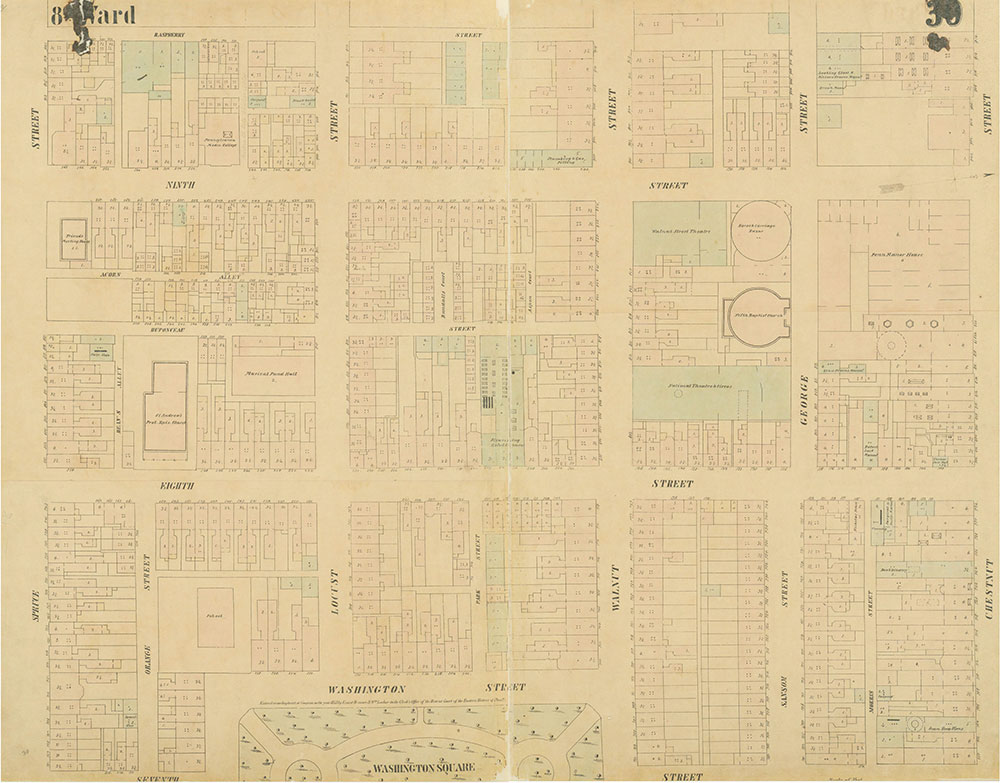 Maps of the City of Philadelphia, 1858-1860, Plate 30