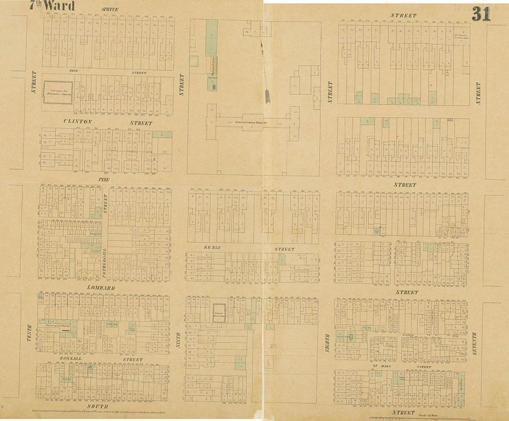 Maps of the City of Philadelphia, 1858-1860, Plate 31