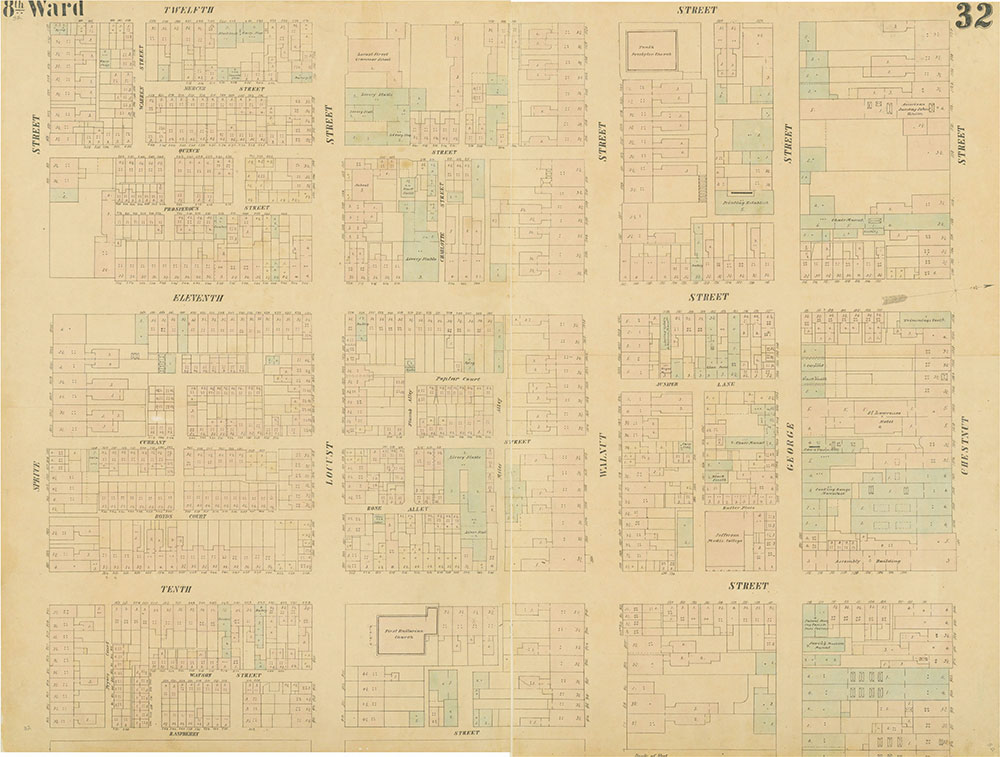 Maps of the City of Philadelphia, 1858-1860, Plate 32