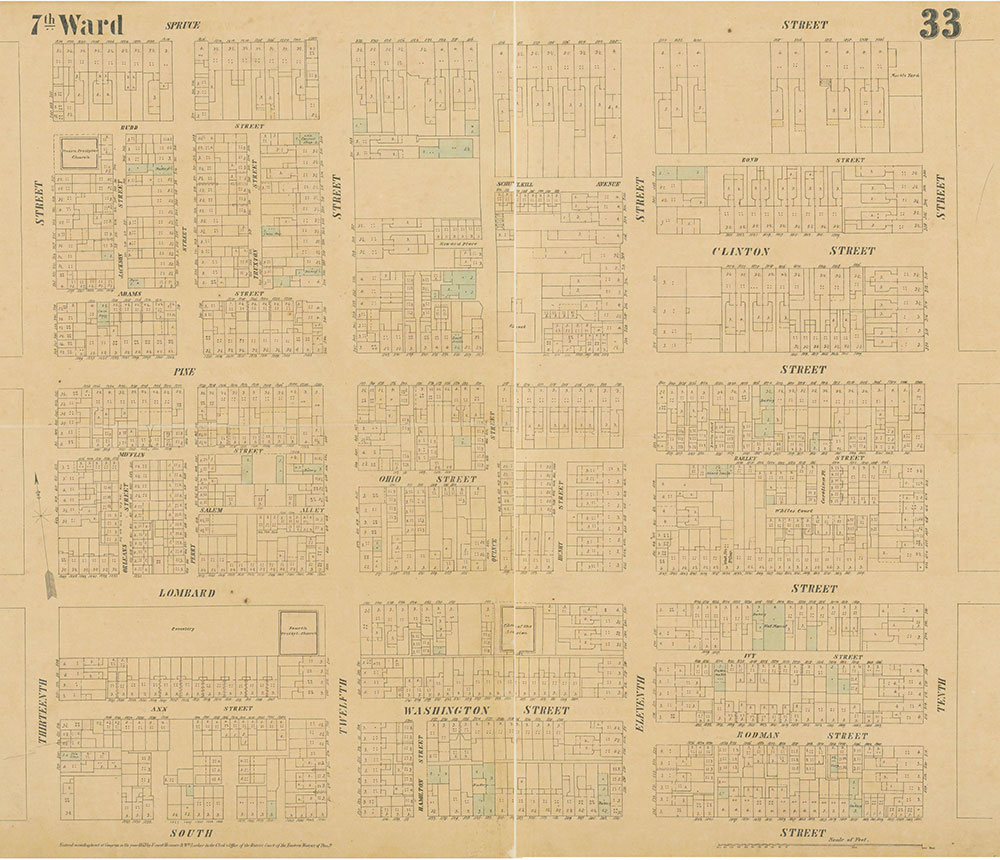 Maps of the City of Philadelphia, 1858-1860, Plate 33