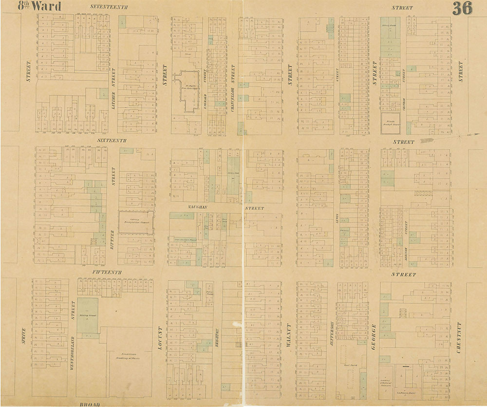 Maps of the City of Philadelphia, 1858-1860, Plate 36