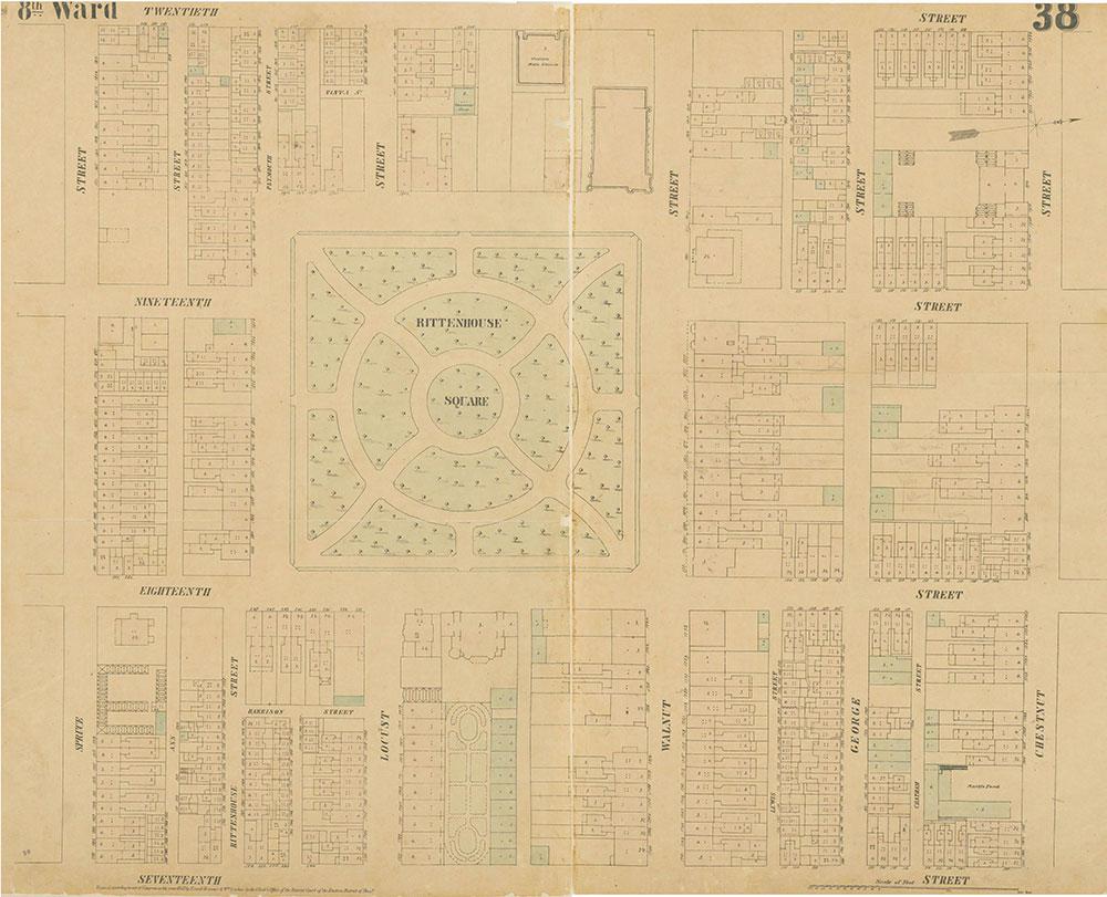 Maps of the City of Philadelphia, 1858-1860, Plate 38