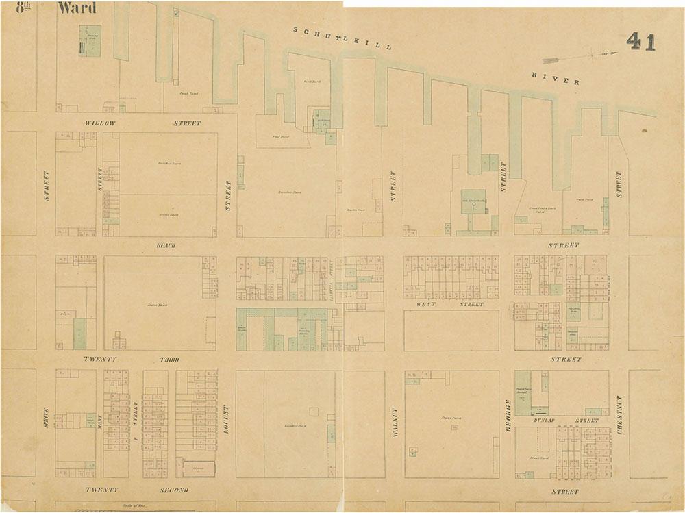 Maps of the City of Philadelphia, 1858-1860, Plate 41