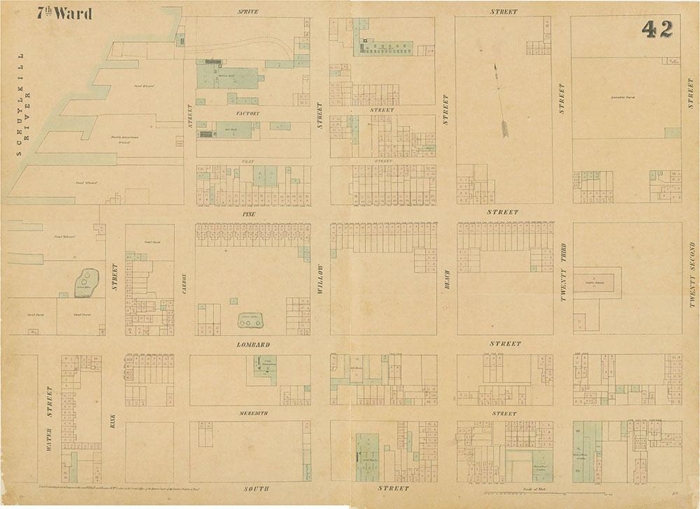Maps of the City of Philadelphia, 1858-1860, Plate 42