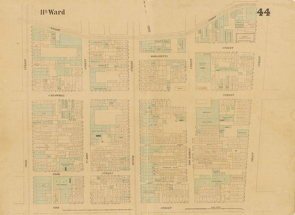 Maps of the City of Philadelphia, 1858-1860, Plate 44