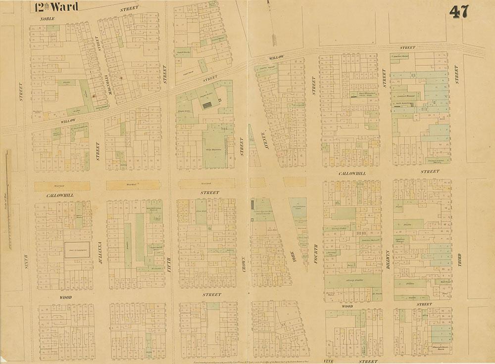 Maps of the City of Philadelphia, 1858-1860, Plate 47