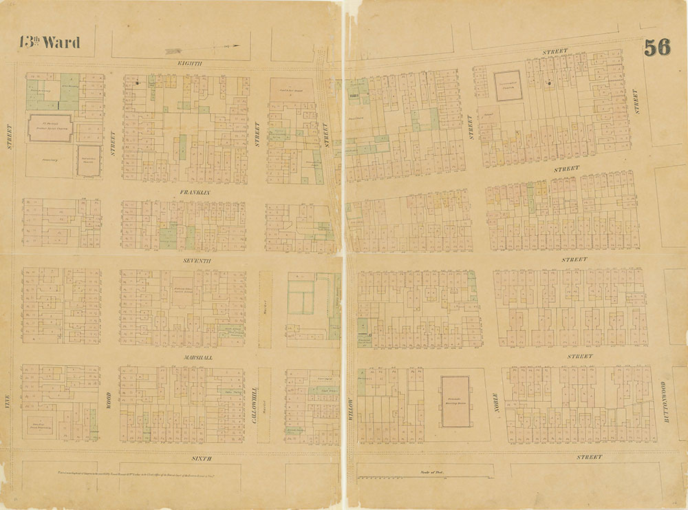 Maps of the City of Philadelphia, 1858-1860, Plate 56