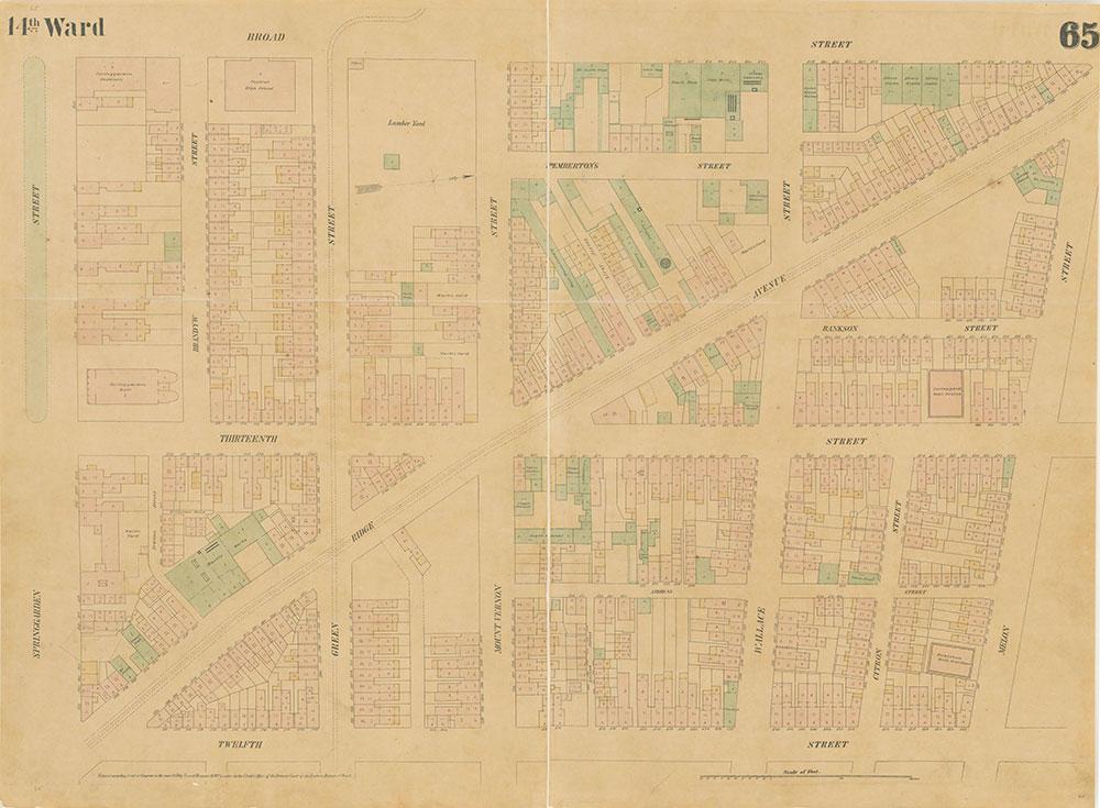 Maps of the City of Philadelphia, 1858-1860, Plate 65
