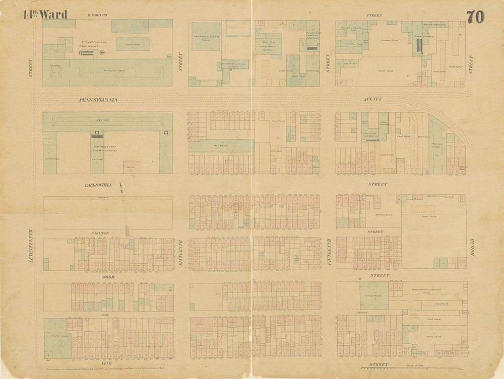 Maps of the City of Philadelphia, 1858-1860, Plate 70