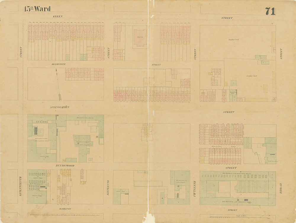 Maps of the City of Philadelphia, 1858-1860, Plate 71