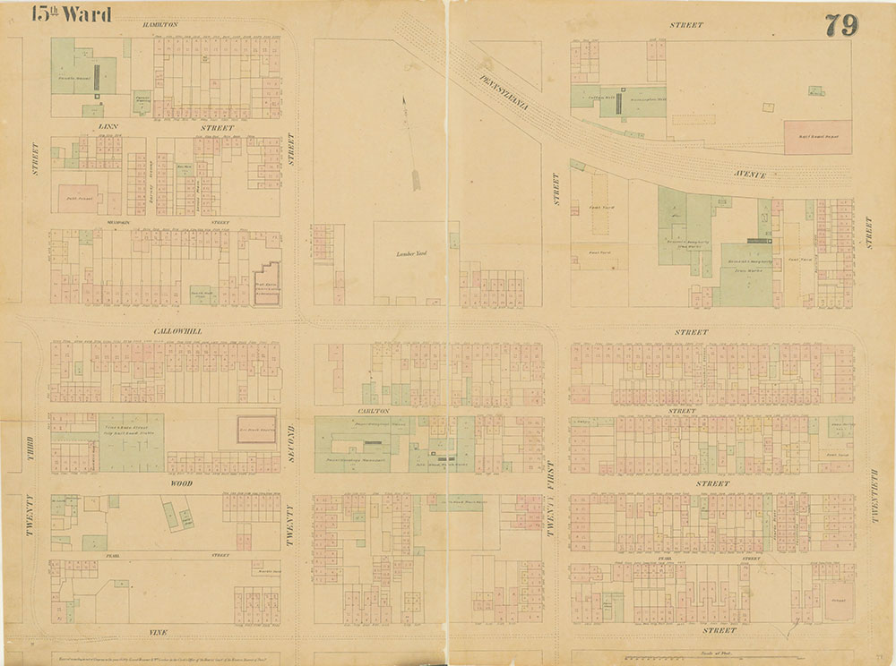 Maps of the City of Philadelphia, 1858-1860, Plate 79