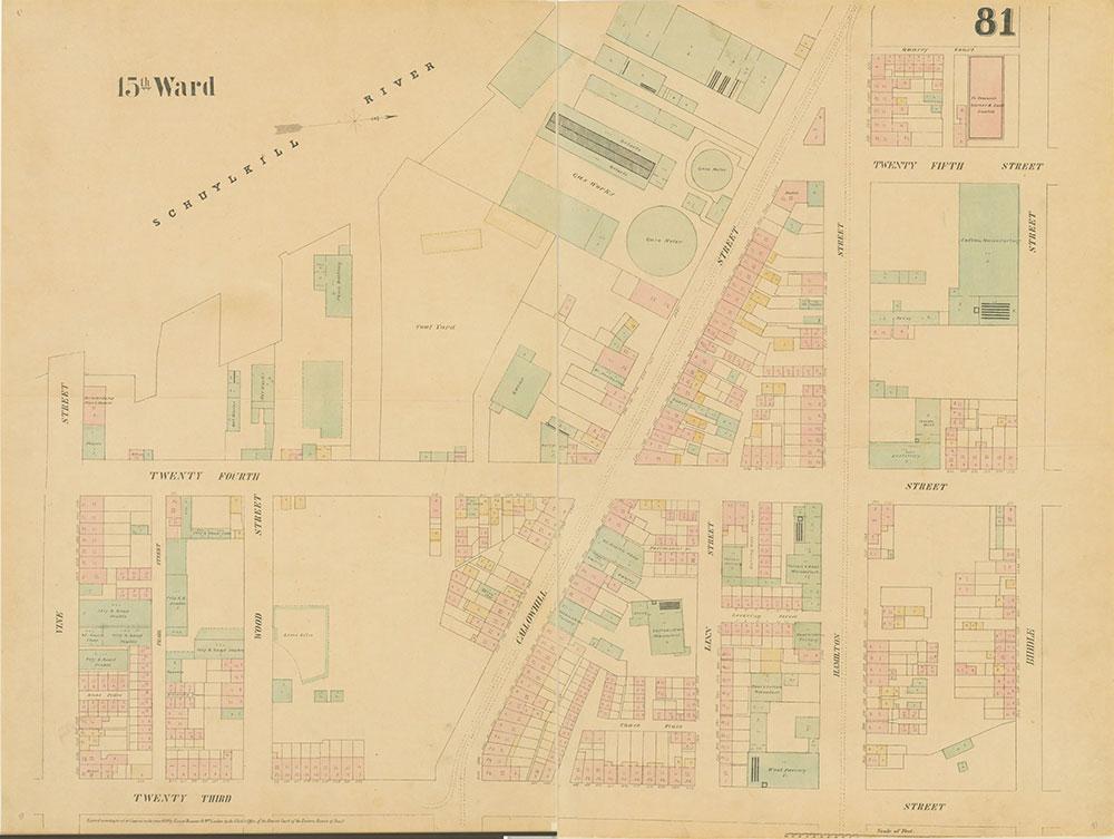 Maps of the City of Philadelphia, 1858-1860, Plate 81