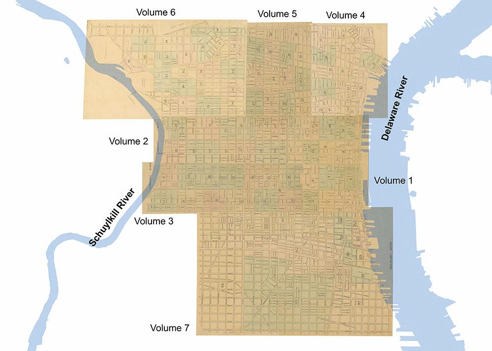 Maps of the City of Philadelphia, 1858-1860, Comprehensive Index