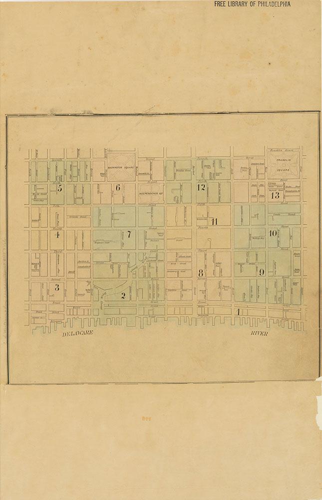Maps of the City of Philadelphia, 1858-1860, Index (vol. 1)