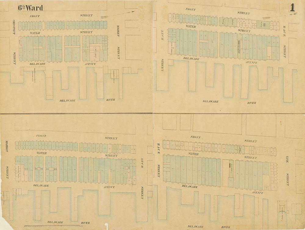 Maps of the City of Philadelphia, 1858-1860, Plate 1