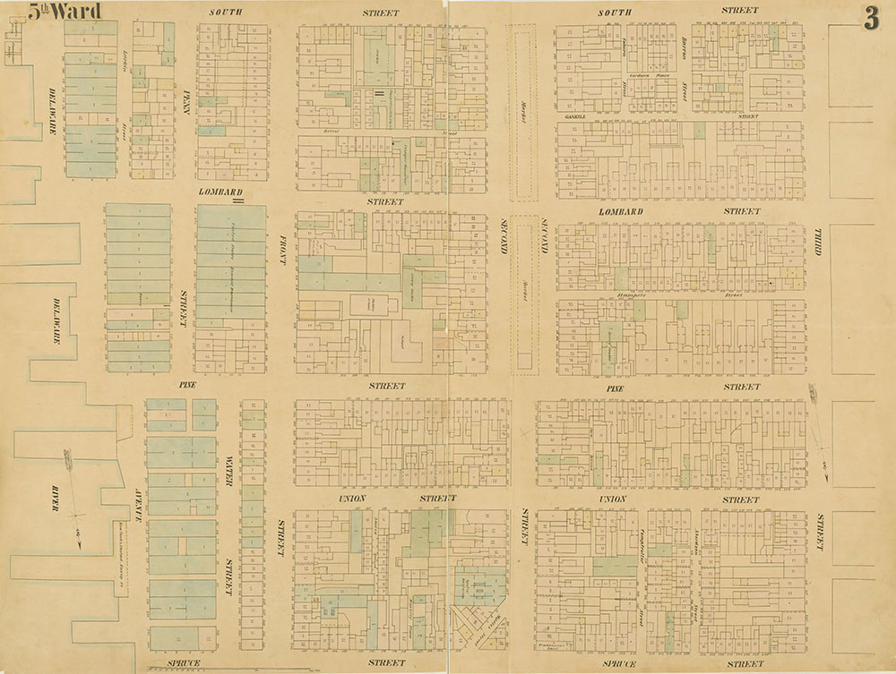 Maps of the City of Philadelphia, 1858-1860, Plate 3
