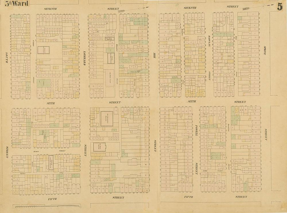Maps of the City of Philadelphia, 1858-1860, Plate 5