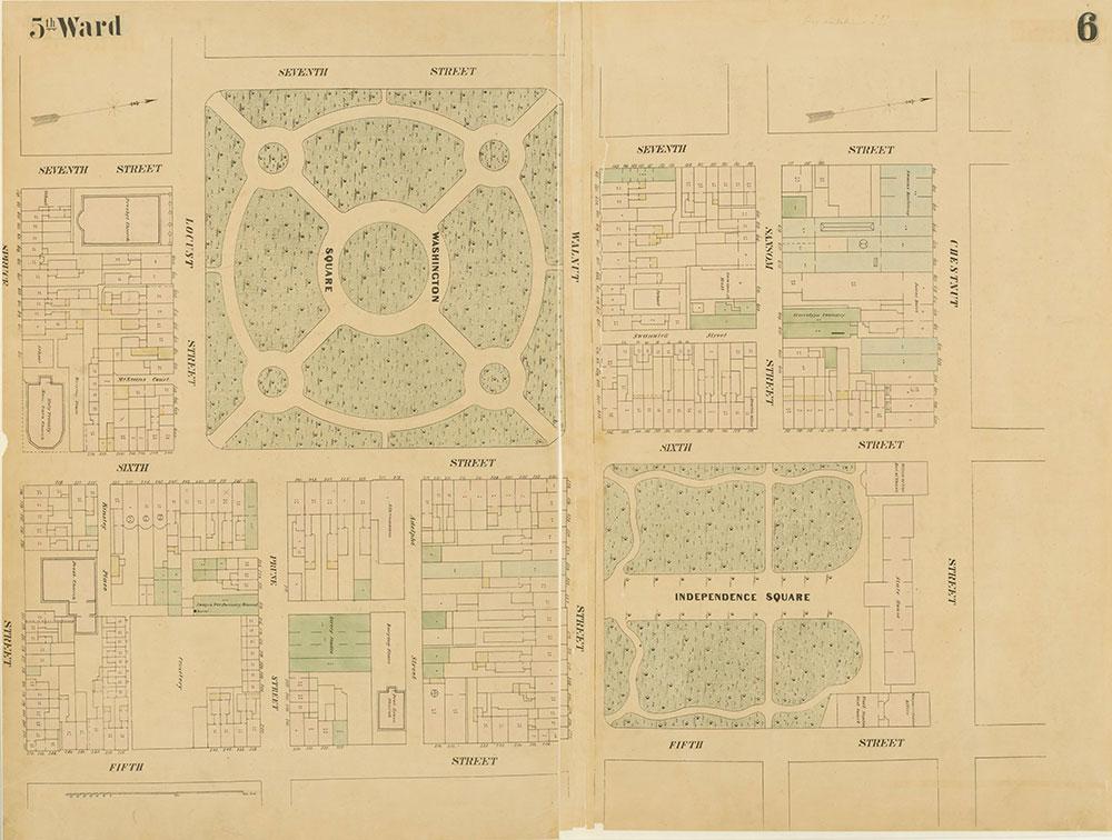 Maps of the City of Philadelphia, 1858-1860, Plate 6