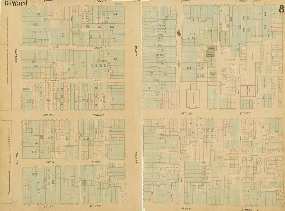 Maps of the City of Philadelphia, 1858-1860, Plate 8