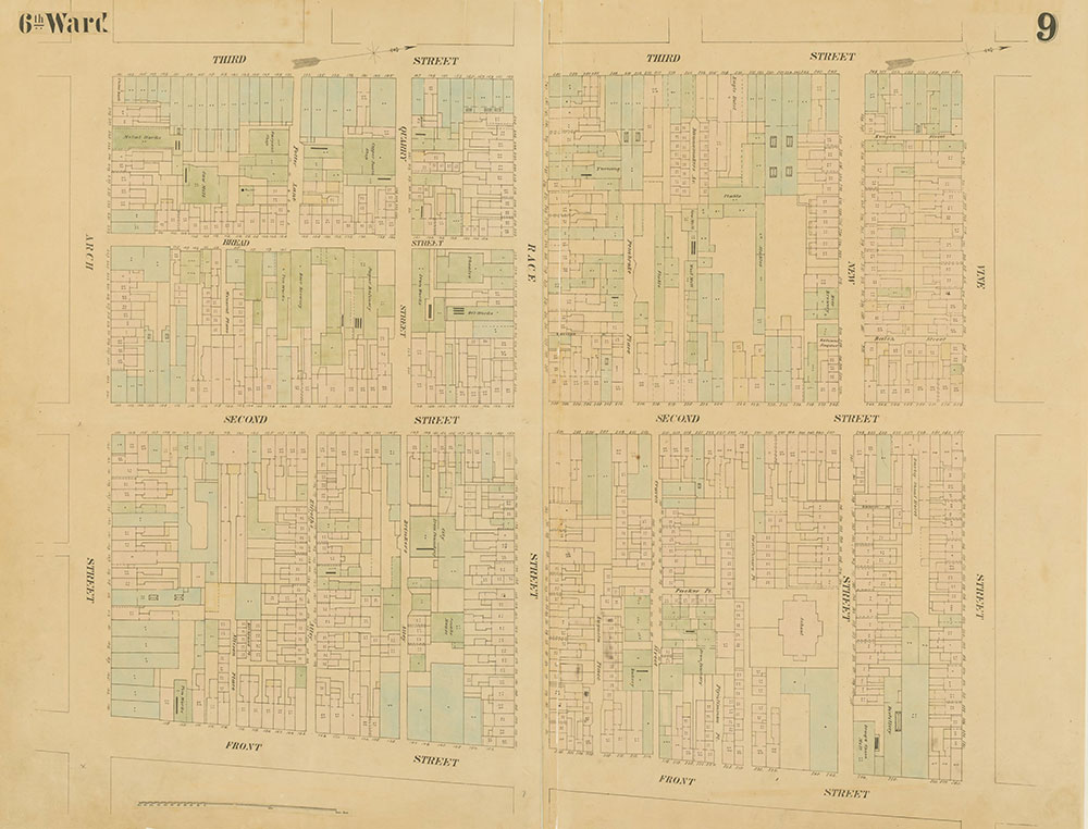 Maps of the City of Philadelphia, 1858-1860, Plate 9